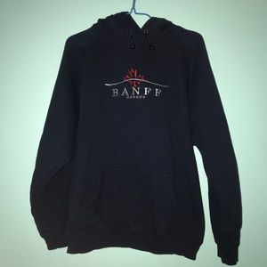 Tops - embroidered banff canada hoodie